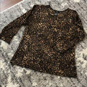 Cheetah print Fiore shirt